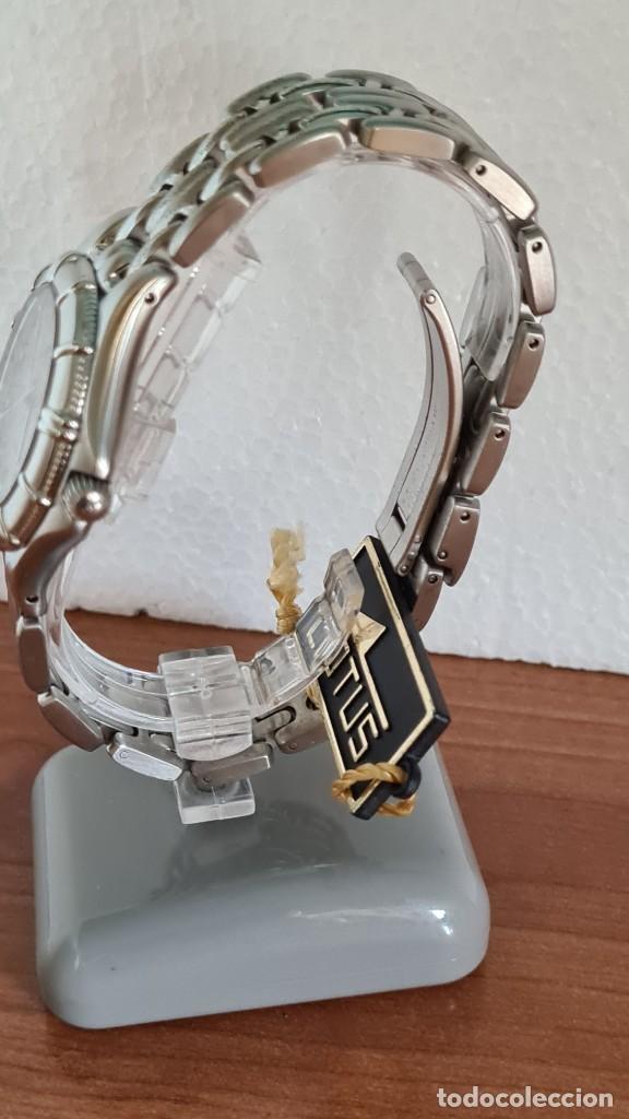 Relojes - Lotus: Reloj caballero de cuarzo LOTUS en acero con calendario a las tres horas, correa de acero original. - Foto 6 - 244736895