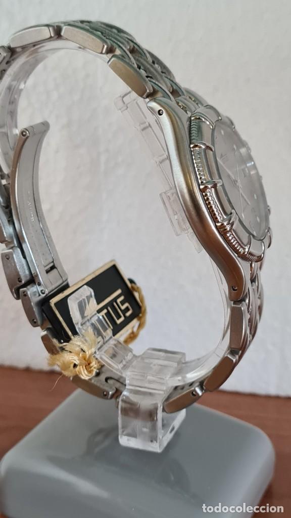 Relojes - Lotus: Reloj caballero de cuarzo LOTUS en acero con calendario a las tres horas, correa de acero original. - Foto 7 - 244736895