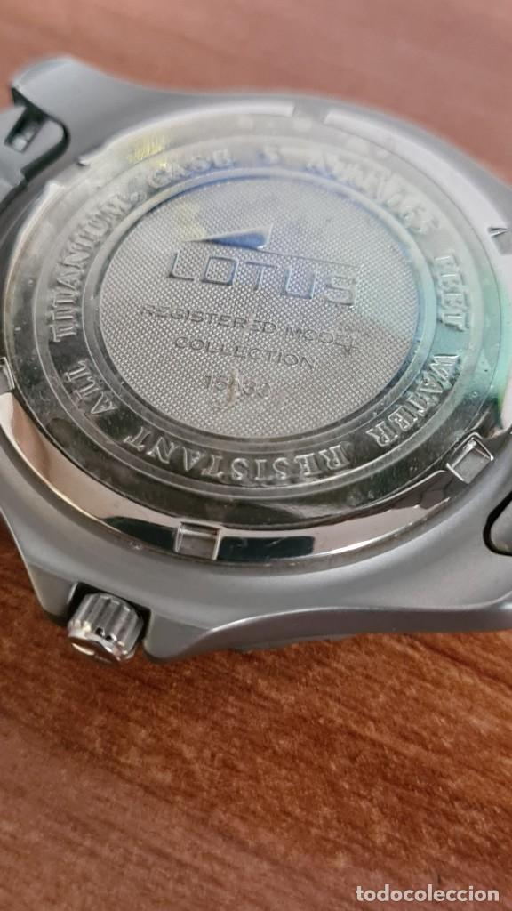 Relojes - Lotus: Reloj caballero de cuarzo LOTUS de titanio, esfera blanca, calendario las tres horas, correa titanio - Foto 16 - 244740270