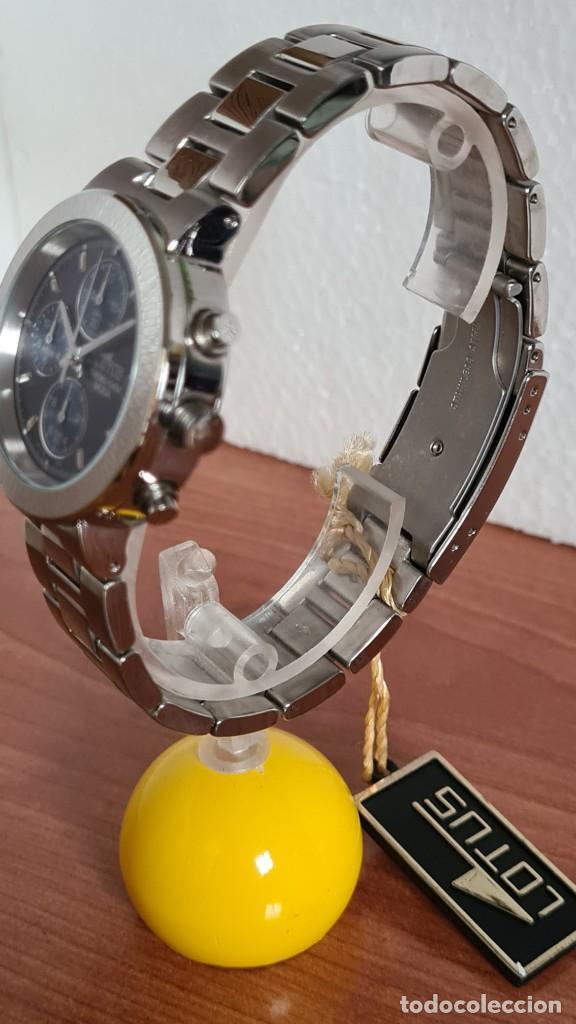 Relojes - Lotus: Reloj unisex LOTUS de cuarzo cronografo, calendario a las tres, correa de acero original LOTUS - Foto 4 - 244752320