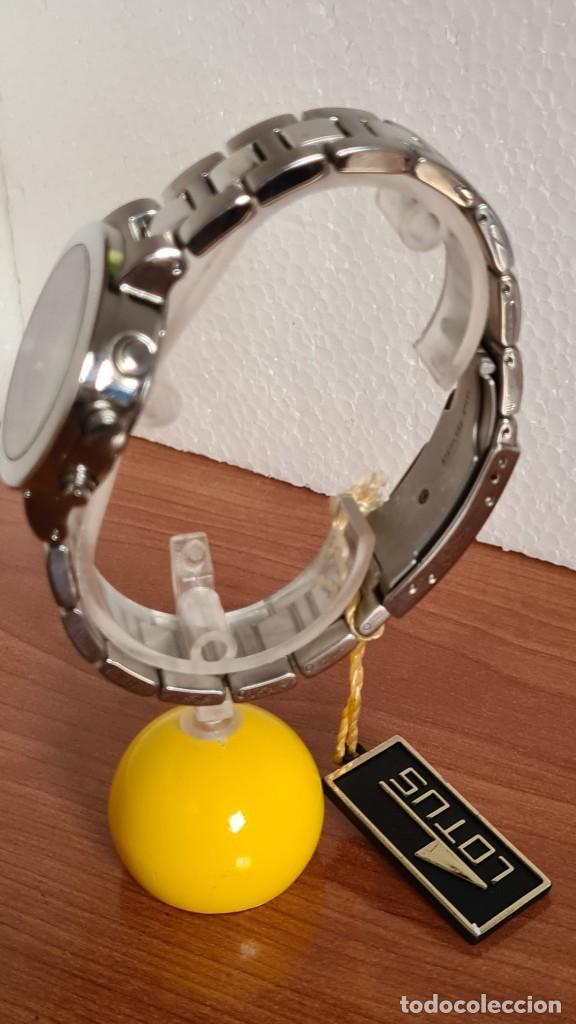 Relojes - Lotus: Reloj unisex LOTUS de cuarzo cronografo, calendario a las tres, correa de acero original LOTUS - Foto 6 - 244752320