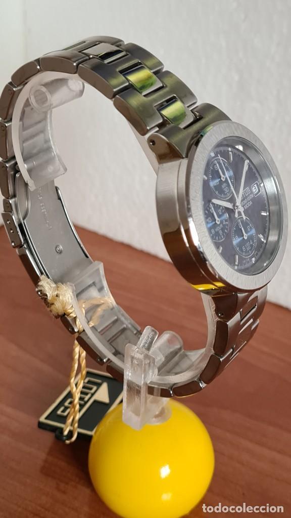 Relojes - Lotus: Reloj unisex LOTUS de cuarzo cronografo, calendario a las tres, correa de acero original LOTUS - Foto 10 - 244752320