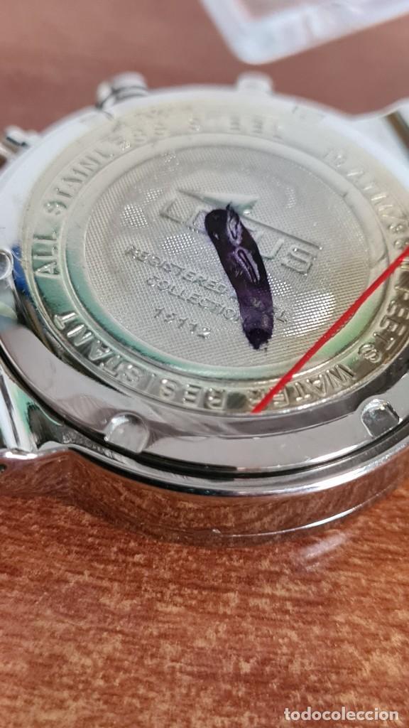 Relojes - Lotus: Reloj unisex LOTUS de cuarzo cronografo, calendario a las tres, correa de acero original LOTUS - Foto 11 - 244752320