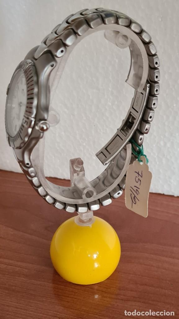 Relojes - Lotus: Reloj caballero cuarzo LOTUS acero. esfera blanca, corona rosca, correa acero original, bisel girato - Foto 6 - 244787615