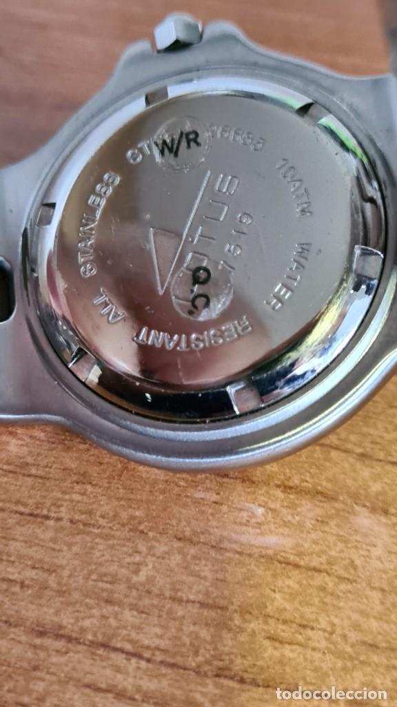 Relojes - Lotus: Reloj caballero cuarzo LOTUS acero. esfera blanca, corona rosca, correa acero original, bisel girato - Foto 11 - 244787615
