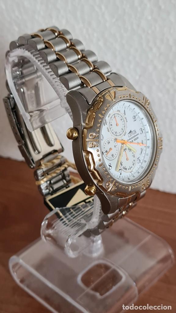 Relojes - Lotus: Reloj caballero LOTUS cuarzo crono, calendario, varias alarmas, fecha, correa acero original LOTUS - Foto 4 - 244797720