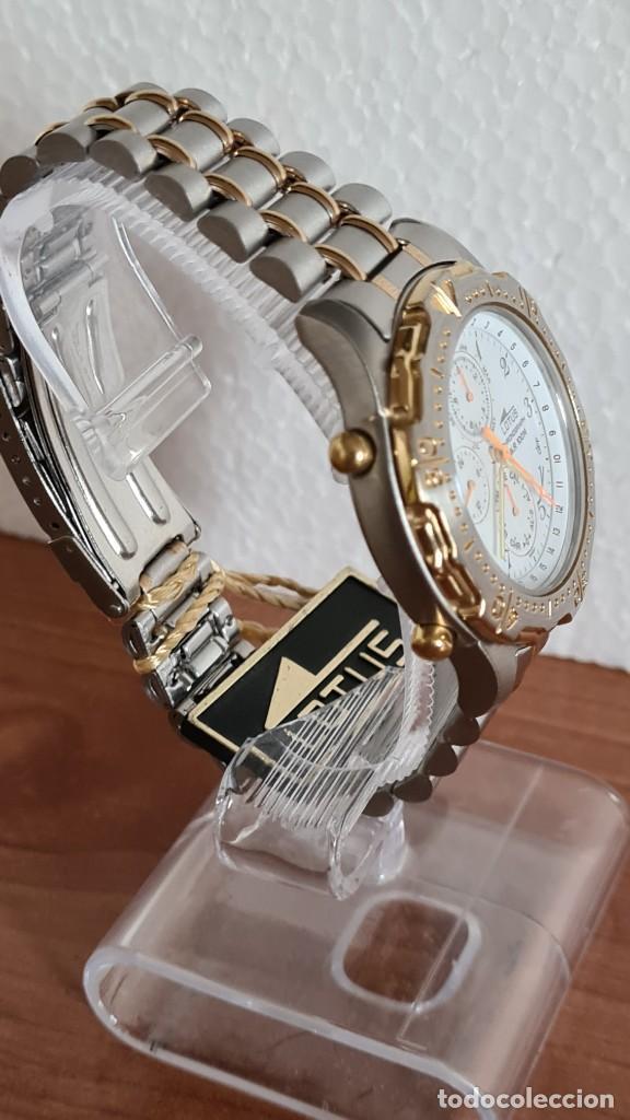 Relojes - Lotus: Reloj caballero LOTUS cuarzo crono, calendario, varias alarmas, fecha, correa acero original LOTUS - Foto 6 - 244797720