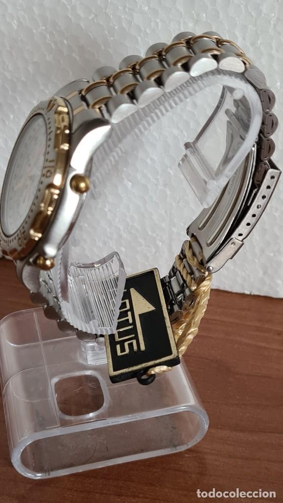 Relojes - Lotus: Reloj caballero LOTUS cuarzo crono, calendario, varias alarmas, fecha, correa acero original LOTUS - Foto 9 - 244797720