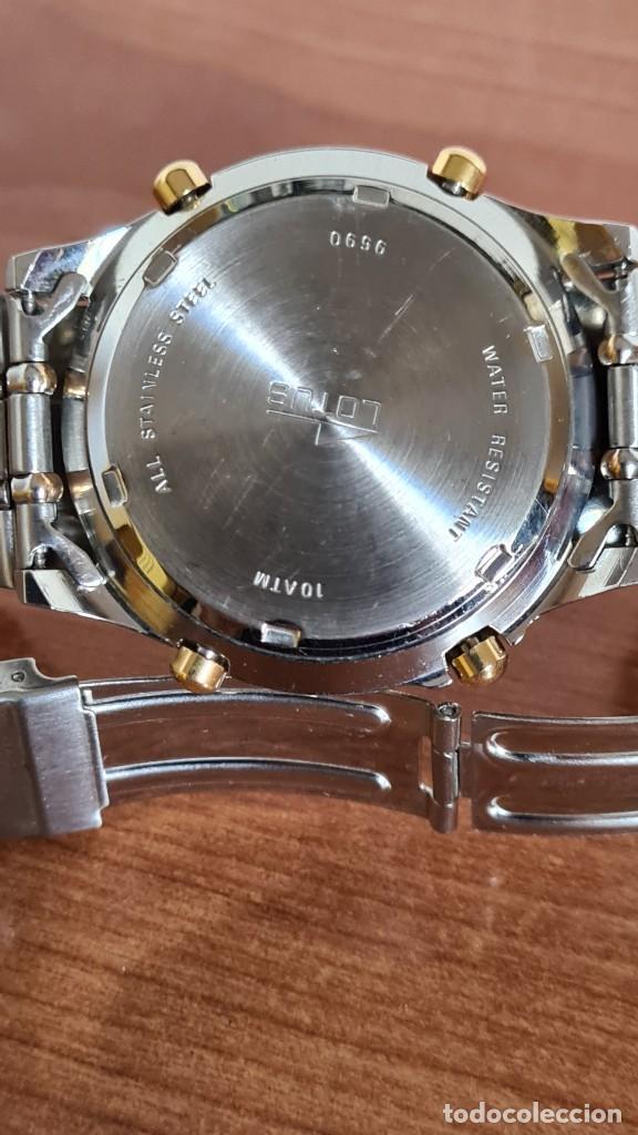 Relojes - Lotus: Reloj caballero LOTUS cuarzo crono, calendario, varias alarmas, fecha, correa acero original LOTUS - Foto 16 - 244797720