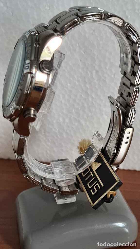 Relojes - Lotus: Reloj caballero LOTUS cuarzo crono, calendario, varias alarmas, fecha, correa acero original LOTUS - Foto 8 - 244800915