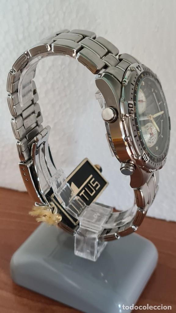 Relojes - Lotus: Reloj caballero LOTUS cuarzo crono, calendario, varias alarmas, fecha, correa acero original LOTUS - Foto 9 - 244800915