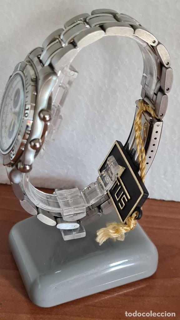 Relojes - Lotus: Reloj caballero LOTUS cuarzo crono, calendario, alarma, fecha la cuatro, correa acero original LOTUS - Foto 6 - 244810425