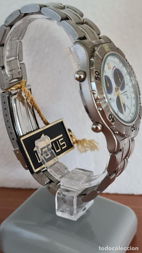 Relojes - Lotus: Reloj caballero LOTUS cuarzo crono, calendario, alarma, fecha la cuatro, correa acero original LOTUS - Foto 9 - 244810425