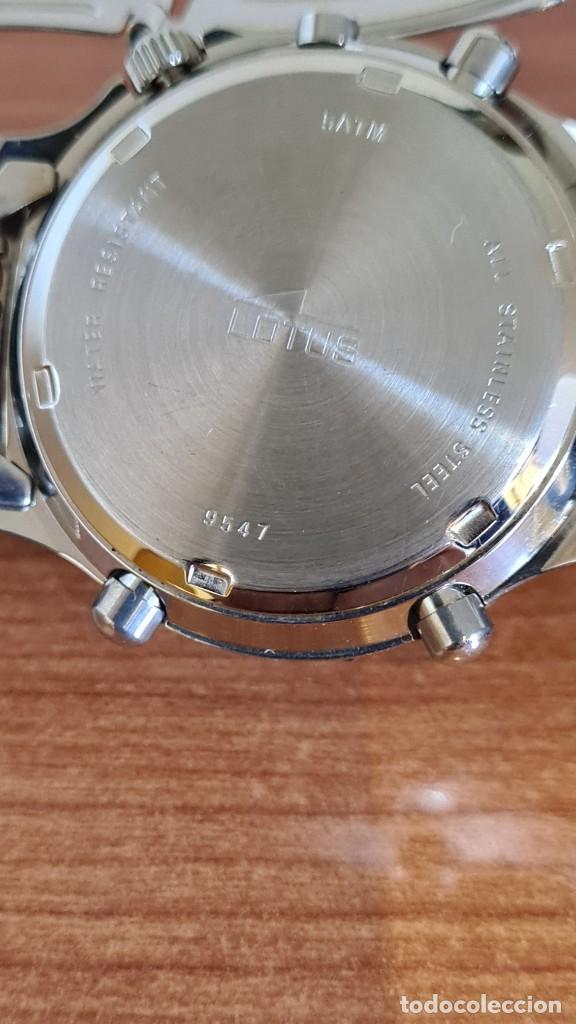Relojes - Lotus: Reloj caballero LOTUS cuarzo crono, calendario, alarma, fecha la cuatro, correa acero original LOTUS - Foto 14 - 244810425