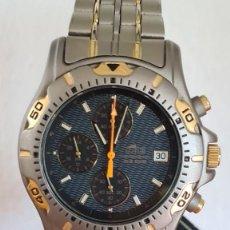 Relojes - Lotus: RELOJ LOTUS TITANIO CUARZO CRONO, CALENDARIO, ALARMA, FECHA LAS TRES HORAS, CORREA TITANIO ORIGINAL. Lote 244818075