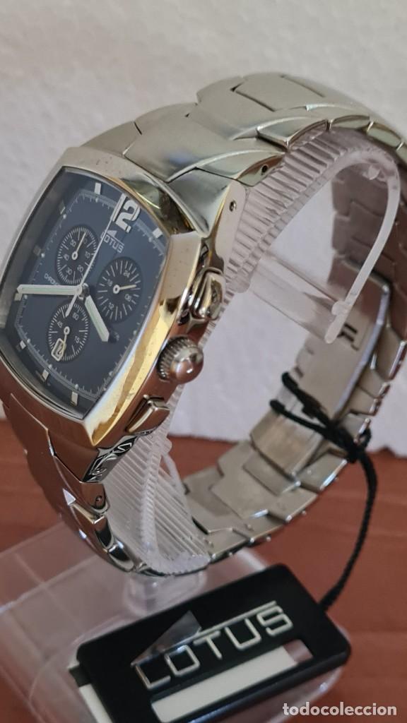 Relojes - Lotus: Reloj de caballero acero LOTUS cuarzo crono, esfera azul, calendario a las seis, correa acero LOTUS. - Foto 3 - 244873320