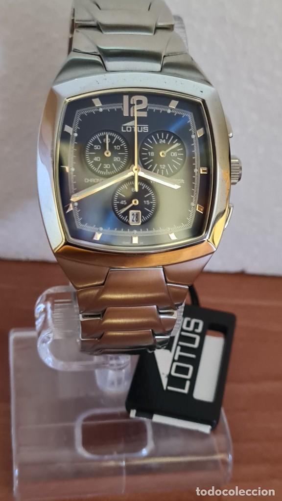 Relojes - Lotus: Reloj de caballero acero LOTUS cuarzo crono, esfera azul, calendario a las seis, correa acero LOTUS. - Foto 4 - 244873320