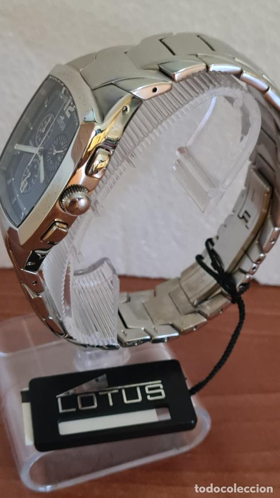 Relojes - Lotus: Reloj de caballero acero LOTUS cuarzo crono, esfera azul, calendario a las seis, correa acero LOTUS. - Foto 5 - 244873320