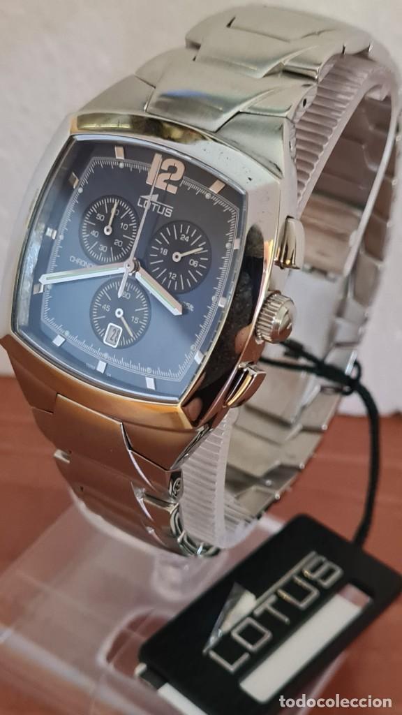 Relojes - Lotus: Reloj de caballero acero LOTUS cuarzo crono, esfera azul, calendario a las seis, correa acero LOTUS. - Foto 7 - 244873320