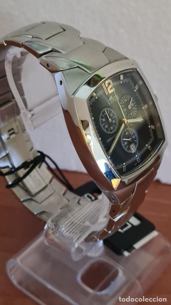 Relojes - Lotus: Reloj de caballero acero LOTUS cuarzo crono, esfera azul, calendario a las seis, correa acero LOTUS. - Foto 8 - 244873320