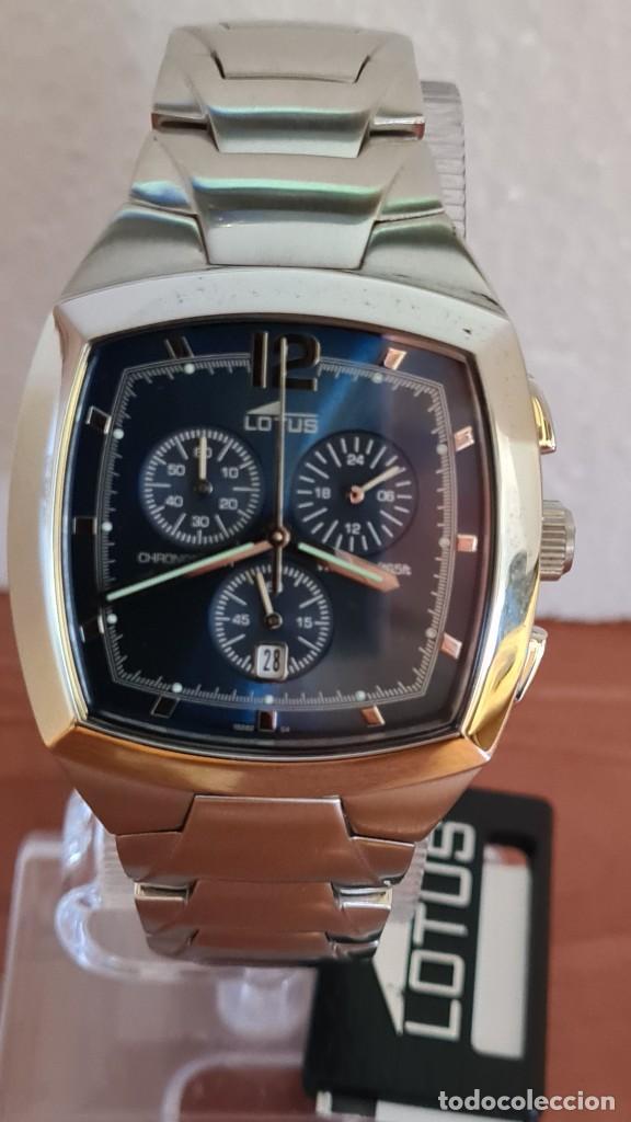 Relojes - Lotus: Reloj de caballero acero LOTUS cuarzo crono, esfera azul, calendario a las seis, correa acero LOTUS. - Foto 10 - 244873320