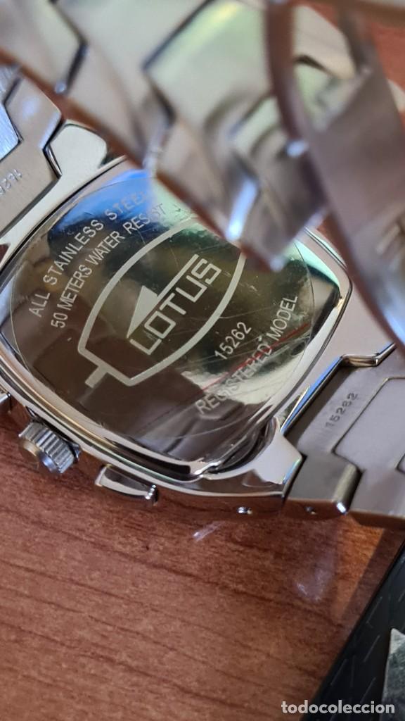 Relojes - Lotus: Reloj de caballero acero LOTUS cuarzo crono, esfera azul, calendario a las seis, correa acero LOTUS. - Foto 11 - 244873320
