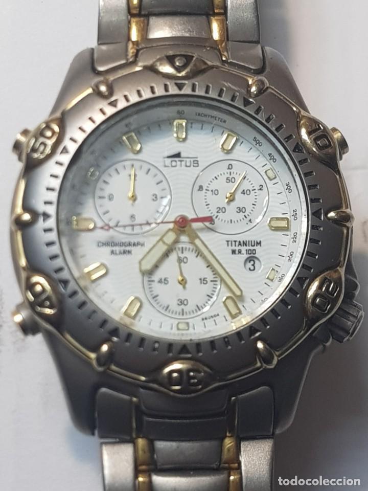 RELOJ LOTUS CABALLERO TODO TITANIO WR100 FUNCIONANDO (Relojes - Relojes Actuales - Lotus)