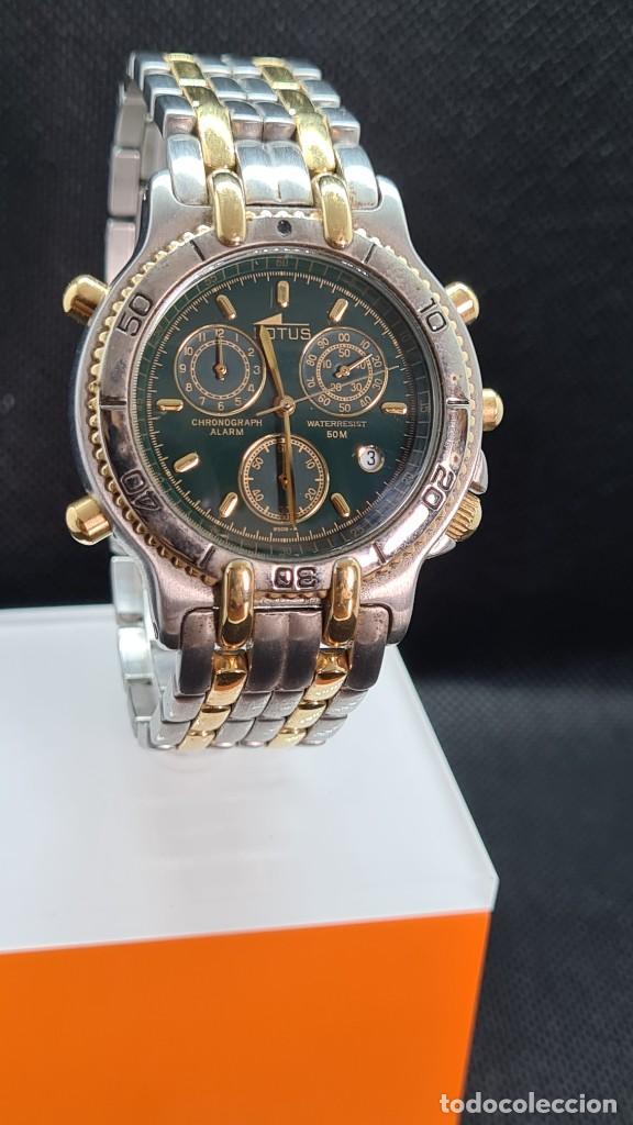 Relojes - Lotus: Reloj caballero LOTUS cuarzo crono, calendario, varias alarmas, fecha, caja, correa acero bicolor. - Foto 4 - 247684485