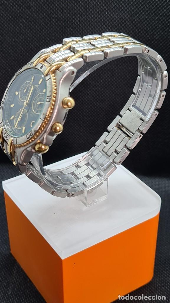 Relojes - Lotus: Reloj caballero LOTUS cuarzo crono, calendario, varias alarmas, fecha, caja, correa acero bicolor. - Foto 5 - 247684485