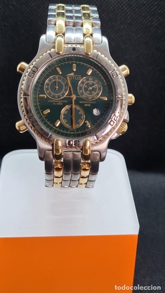 Relojes - Lotus: Reloj caballero LOTUS cuarzo crono, calendario, varias alarmas, fecha, caja, correa acero bicolor. - Foto 6 - 247684485