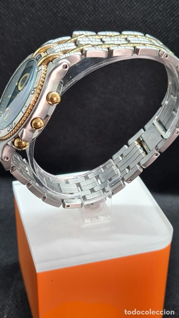Relojes - Lotus: Reloj caballero LOTUS cuarzo crono, calendario, varias alarmas, fecha, caja, correa acero bicolor. - Foto 7 - 247684485