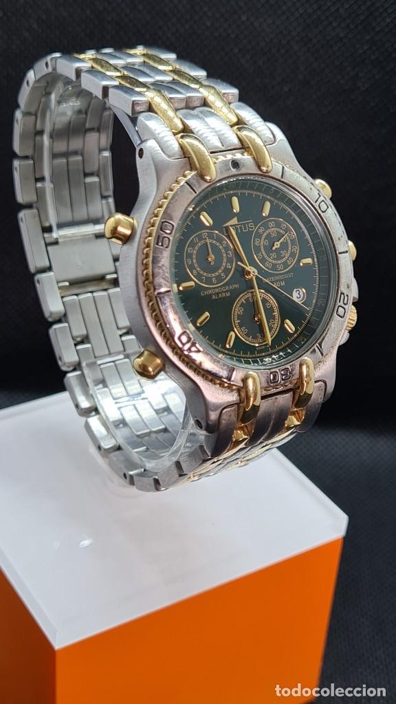 Relojes - Lotus: Reloj caballero LOTUS cuarzo crono, calendario, varias alarmas, fecha, caja, correa acero bicolor. - Foto 8 - 247684485