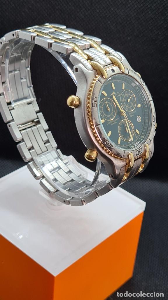 Relojes - Lotus: Reloj caballero LOTUS cuarzo crono, calendario, varias alarmas, fecha, caja, correa acero bicolor. - Foto 9 - 247684485