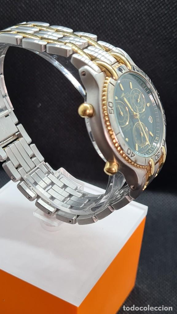 Relojes - Lotus: Reloj caballero LOTUS cuarzo crono, calendario, varias alarmas, fecha, caja, correa acero bicolor. - Foto 11 - 247684485