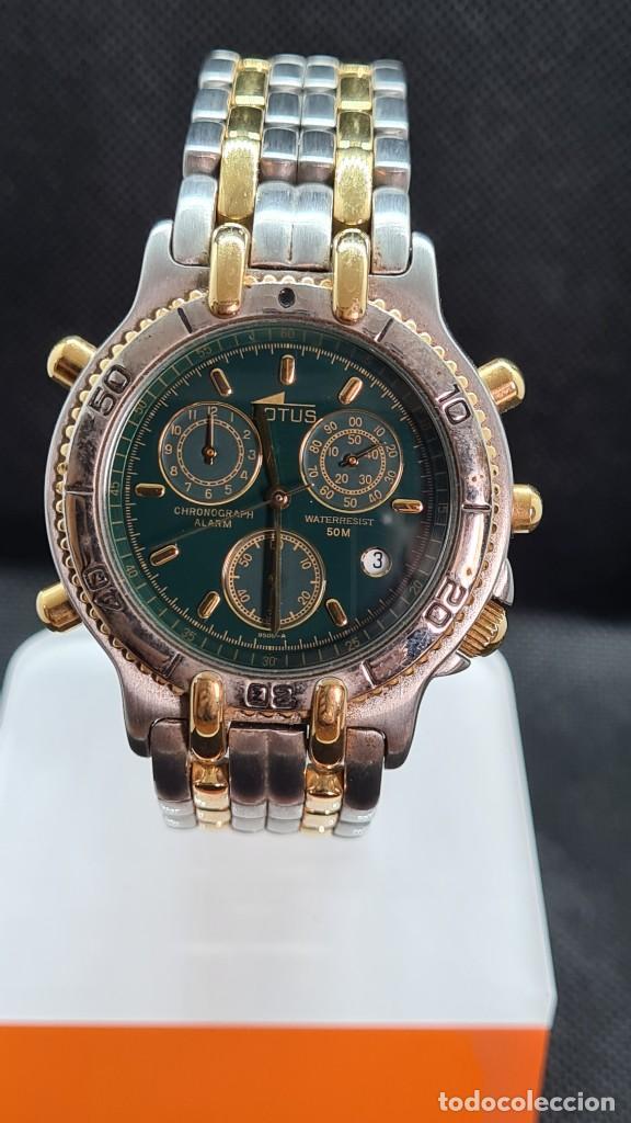 Relojes - Lotus: Reloj caballero LOTUS cuarzo crono, calendario, varias alarmas, fecha, caja, correa acero bicolor. - Foto 12 - 247684485