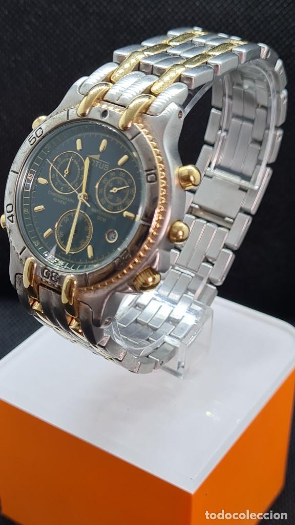 Relojes - Lotus: Reloj caballero LOTUS cuarzo crono, calendario, varias alarmas, fecha, caja, correa acero bicolor. - Foto 14 - 247684485