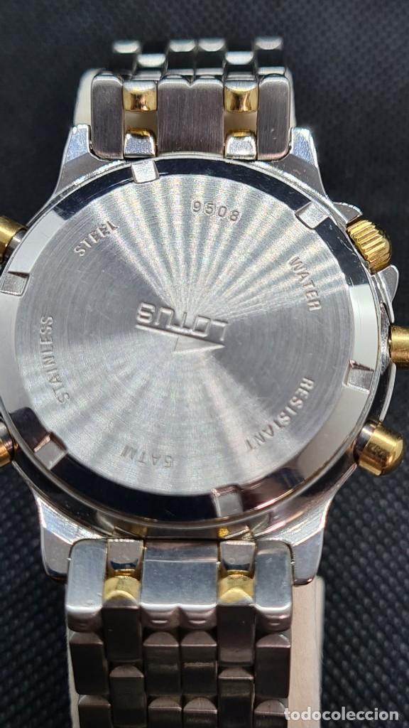 Relojes - Lotus: Reloj caballero LOTUS cuarzo crono, calendario, varias alarmas, fecha, caja, correa acero bicolor. - Foto 15 - 247684485