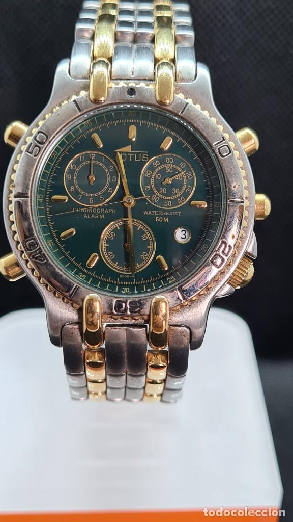 Relojes - Lotus: Reloj caballero LOTUS cuarzo crono, calendario, varias alarmas, fecha, caja, correa acero bicolor. - Foto 16 - 247684485