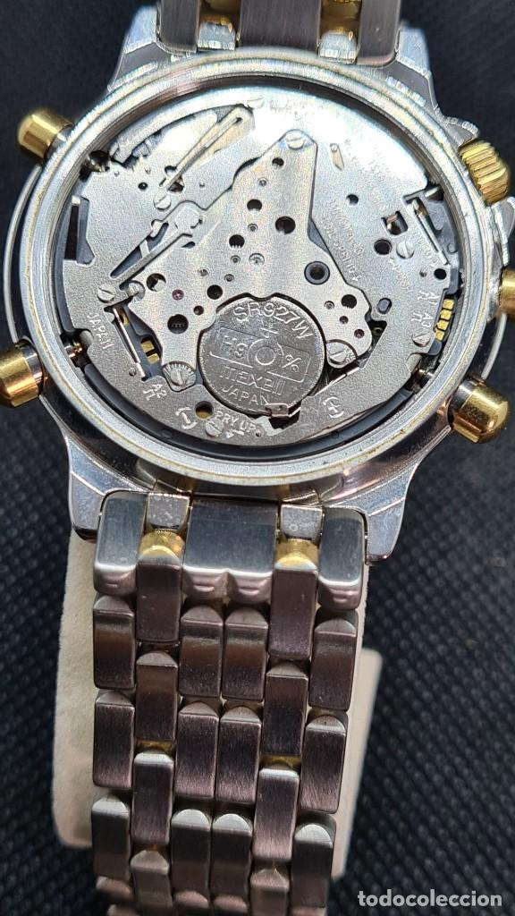 Relojes - Lotus: Reloj caballero LOTUS cuarzo crono, calendario, varias alarmas, fecha, caja, correa acero bicolor. - Foto 17 - 247684485