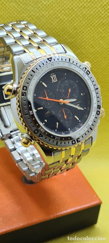 Relojes - Lotus: Reloj caballero LOTUS cuarzo crono, calendario, varias alarmas, fecha, caja, correa acero bicolor. - Foto 3 - 248437190