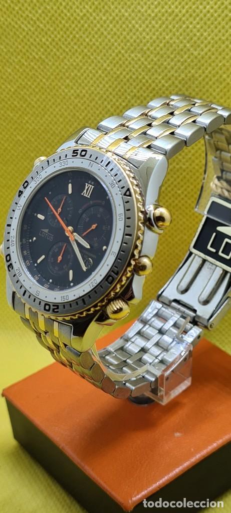 Relojes - Lotus: Reloj caballero LOTUS cuarzo crono, calendario, varias alarmas, fecha, caja, correa acero bicolor. - Foto 4 - 248437190