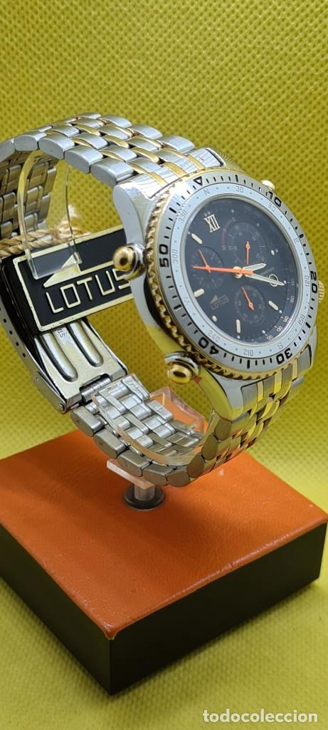 Relojes - Lotus: Reloj caballero LOTUS cuarzo crono, calendario, varias alarmas, fecha, caja, correa acero bicolor. - Foto 5 - 248437190