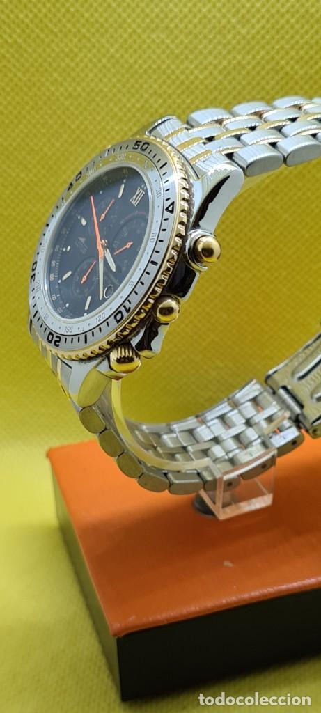 Relojes - Lotus: Reloj caballero LOTUS cuarzo crono, calendario, varias alarmas, fecha, caja, correa acero bicolor. - Foto 6 - 248437190