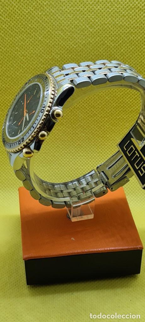 Relojes - Lotus: Reloj caballero LOTUS cuarzo crono, calendario, varias alarmas, fecha, caja, correa acero bicolor. - Foto 8 - 248437190