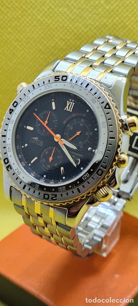 Relojes - Lotus: Reloj caballero LOTUS cuarzo crono, calendario, varias alarmas, fecha, caja, correa acero bicolor. - Foto 12 - 248437190