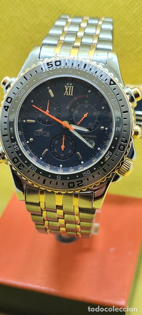 Relojes - Lotus: Reloj caballero LOTUS cuarzo crono, calendario, varias alarmas, fecha, caja, correa acero bicolor. - Foto 13 - 248437190