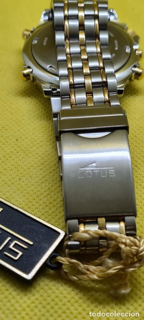 Relojes - Lotus: Reloj caballero LOTUS cuarzo crono, calendario, varias alarmas, fecha, caja, correa acero bicolor. - Foto 14 - 248437190