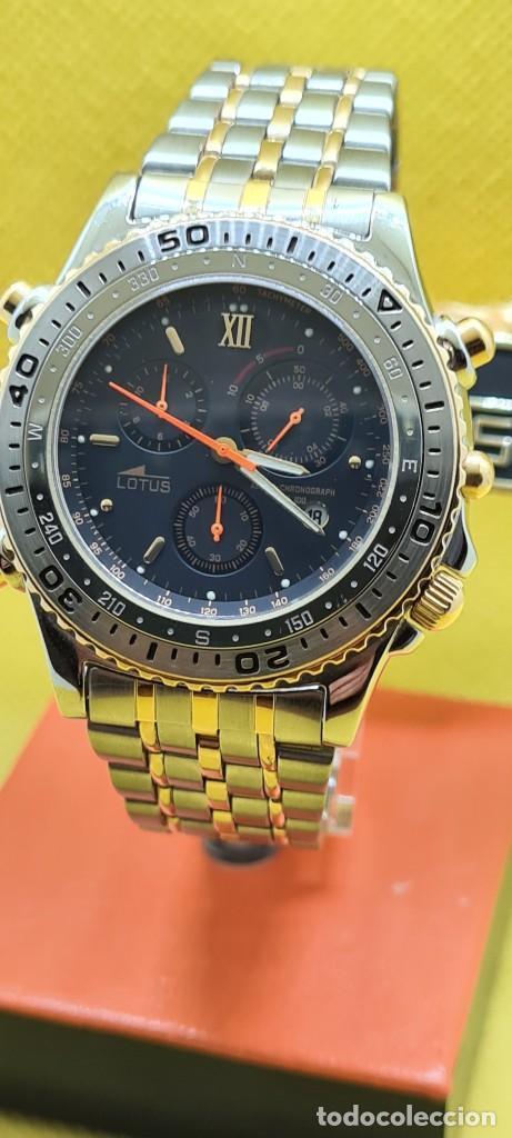 Relojes - Lotus: Reloj caballero LOTUS cuarzo crono, calendario, varias alarmas, fecha, caja, correa acero bicolor. - Foto 15 - 248437190