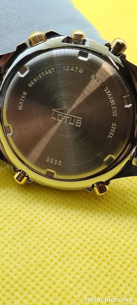 Relojes - Lotus: Reloj caballero LOTUS cuarzo crono, calendario, varias alarmas, fecha, caja, correa acero bicolor. - Foto 17 - 248437190