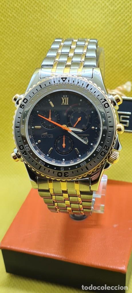 Relojes - Lotus: Reloj caballero LOTUS cuarzo crono, calendario, varias alarmas, fecha, caja, correa acero bicolor. - Foto 18 - 248437190